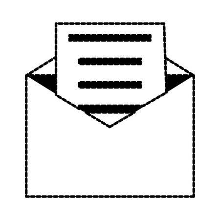 envelope with letter over white background vector illustration Illustration