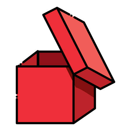 opened box icon over white background vector illustration Illusztráció