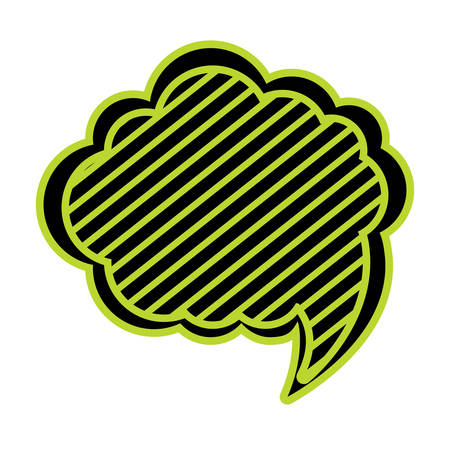 Speech cloud icon over white background, green and black design. vector illustration
