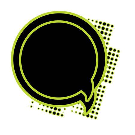 circular Speech bubble icon over white background, colorful design. vector illustration