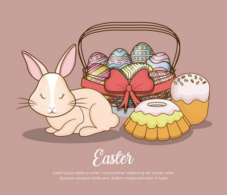 Happy easter day design Illustration