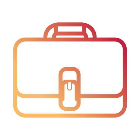 A closed briefcase vector illustration.