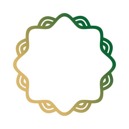 decorative frame icon over white background, colorful line design. vector illustration