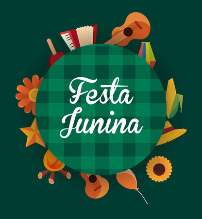 Festa Junina card or banner design