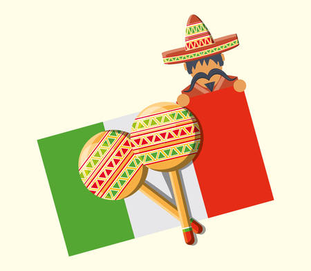 Mexican flag design