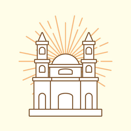 Design of mexico with Palace of Fine Arts icon white background, colorful design vector illustration