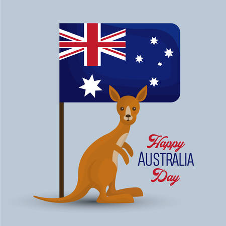 happy australia day background national holiday vector illustration graphic design