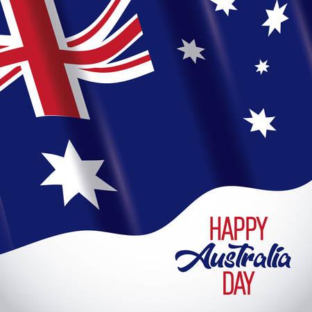 happy australia day background Imagens - 96069122