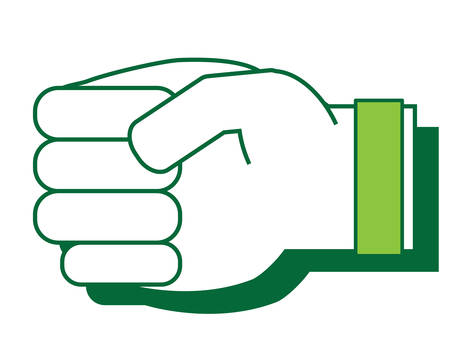hand with clenched fist Vector illustration. Illustration