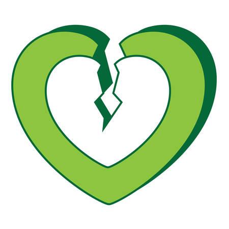 Broken heart icon. Ilustração