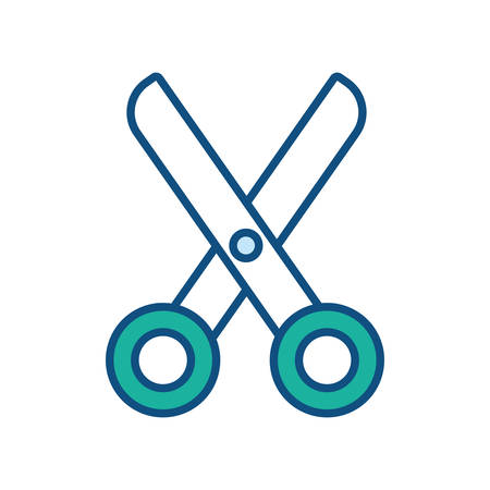 Scissors icon over white background, colorful design vector illustration 일러스트