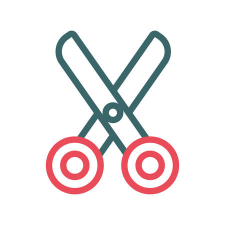 Scissors icon over white background, colorful design vector illustration Illustration