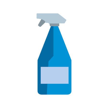 Cleaning spray bottle icon over white background, colorful design vector illustration