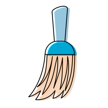 Sweeper for cleaning supplies design Illustration