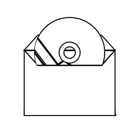 Corporate brand CD illustration on white background. Archivio Fotografico - 96286487