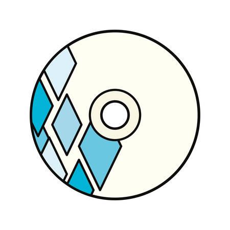 Corporate brand CD illustration on white background. Illustration