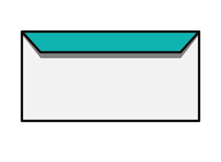 envelope icon over white background, colorful design vector illustration Illustration