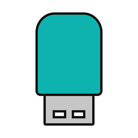 usb flash drive over white background, colorful design  vector illustration