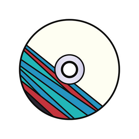 Corporate Brand CD with striped design over white background, colorful design vector illustration Illustration