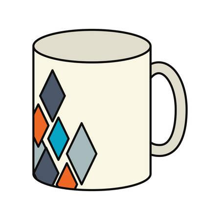 Corporate brand mug icon illustration on white background. Illustration