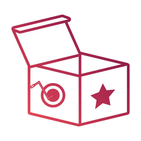 Joke box icon with star