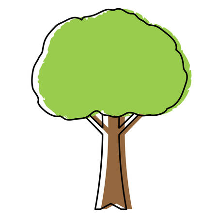 tree icon over white background, colorful design. vector illustration