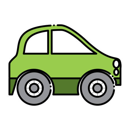 A small car icon isolated on plain background. Illustration