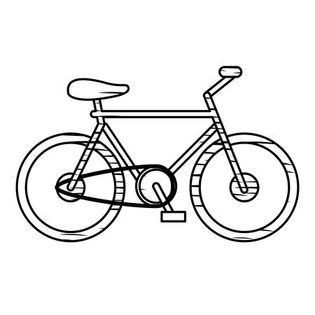 A bicycle icon image isolated on plain background.