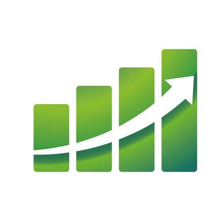 Arrow growing up icon vector illustration graphic design Illustration