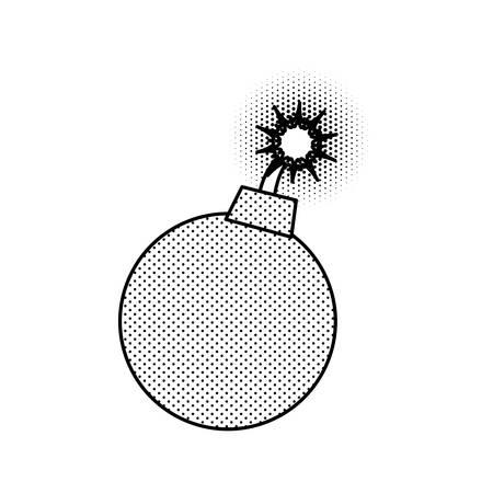 Ball bomb weapon illustration. Illustration