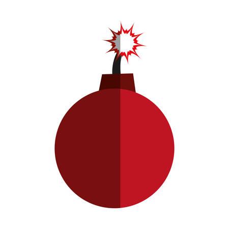 Ball bomb weapon icon vector illustration graphic design Illustration