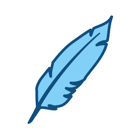 Ink feather symbol on white background.