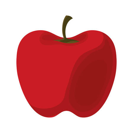 Colorful red pepper over white background vector illustration. Illustration