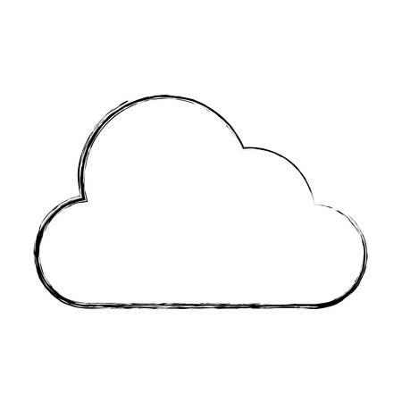 Cloud vector illustration. Çizim