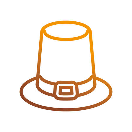 Pilgrim hat icon over white background vector illustration Illustration