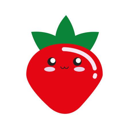 Kawaii fruits design concept.