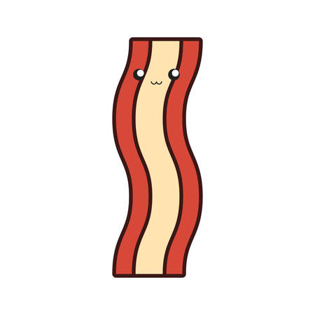 Colorful bacon over white background vector illustration Çizim