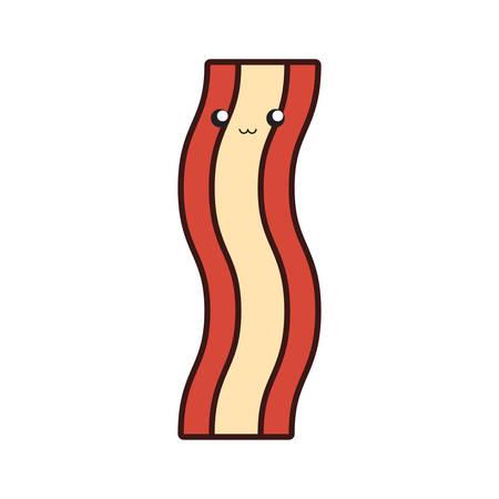 Colorful bacon over white background vector illustration Ilustração