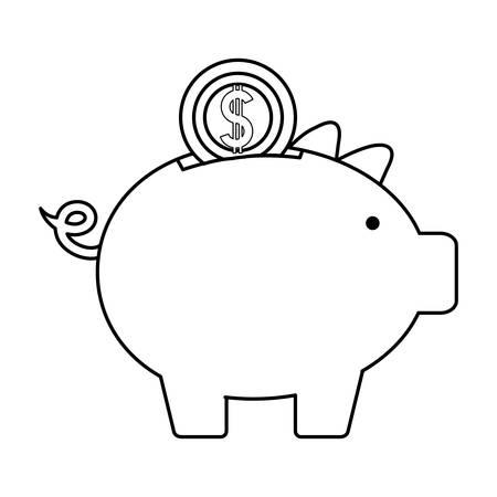 Piggyback vector illustration