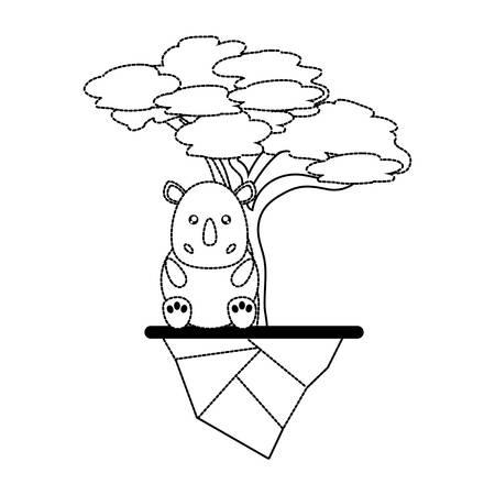 Forest sticker design isolated on white background 矢量图像