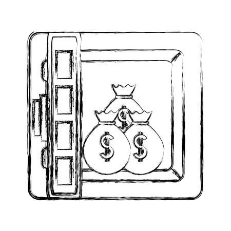 A safe vector illustration isolated on white background Illustration