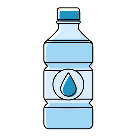 Water bottle icon over white background colorful design vector illustration. Illustration