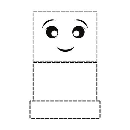 kawaii showcase icon over white background vector illustration