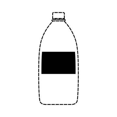 A soda bottle icon image isolated on plain background. Çizim
