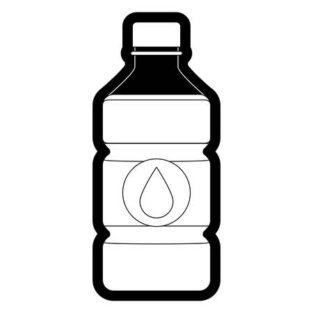A water bottle icon over white background vector illustration