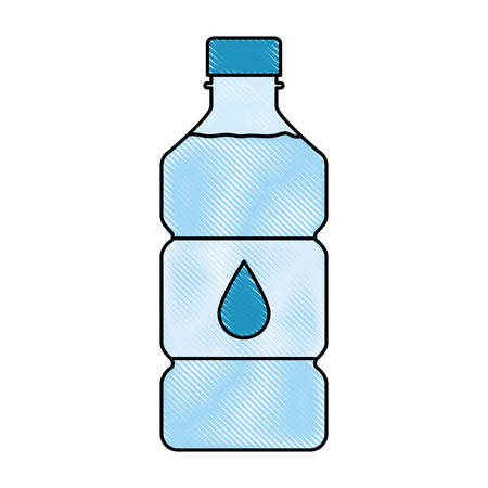 A water bottle icon over white background colorful design vector illustration