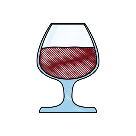 A wine glass icon over white background colorful design vector illustration