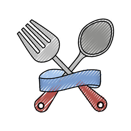 Cutlery and ribbon design