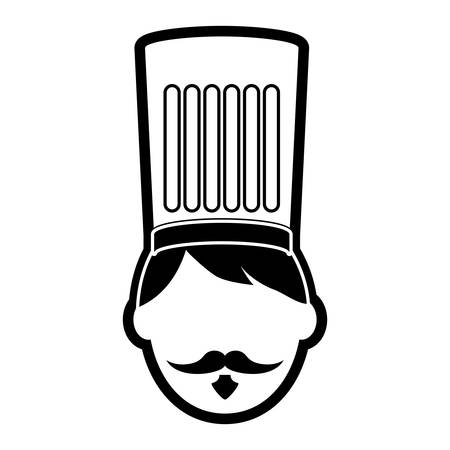 A chef vector illustration isolated on white background.