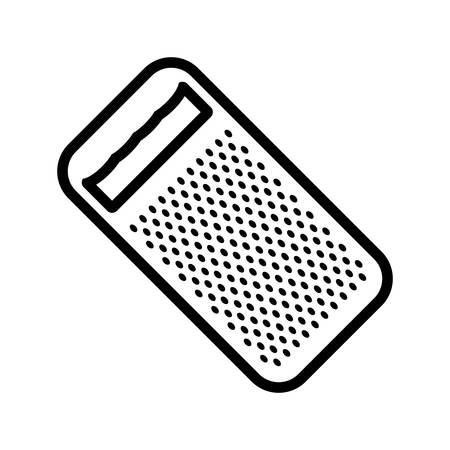 Grater vector illustration isolated on white background.